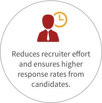 Reduce recruiters effort to reach candidates
